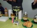 A scuola: la coppa e l'assaggio di vari tipi di miele