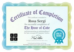certificato ora del codice