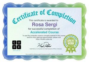 corso completo ora del codice Rosa Sergi